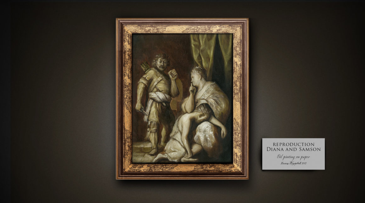 Oil painting reproduction Diana and Samson